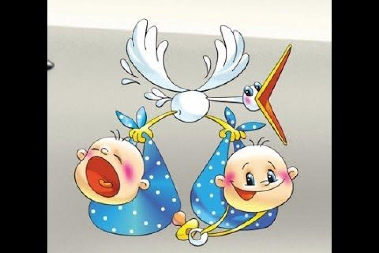 Открытки с рождением внуков двойняшек рисунок