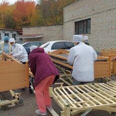 Луцька лікарня отримала ліжка , матраци, візки, білизну (Фото)