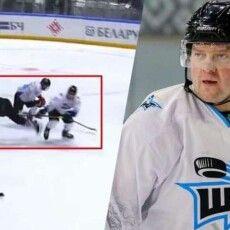Син Лукашенка травмував хокеїста ударом ключкою між ніг