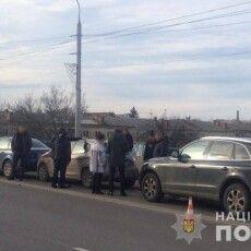 У Луцьку зіткнулися чотири авто, є постраждалі