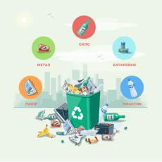 У громаді на Волині поставили контейнери для сортування сміття, але їх  використовують не за призначенням