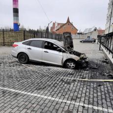 З'явилось відео підпалу авто луцької журналістки (Відео)