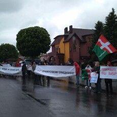У Княгинінку під час акції протесту перекривали дорогу