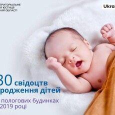 4 730 волинян отримали свідоцтва про народження дитини у закладах охорони здоров'я