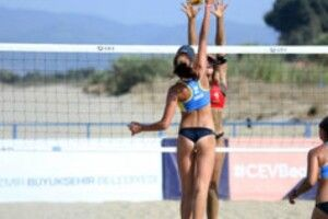 Українські спортсменки перемогли на чемпіонаті Європи з пляжного волейболу