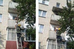 Мешканець Костополя випав з балкона третього поверху і зачепився на другому