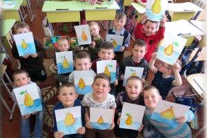 Рокинівські школярики малювали «сонячну грушку»