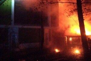 У Рівному сталася масштабна пожежа в ресторані