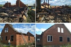 В селі на Рівненщині ледь не згоріла хата