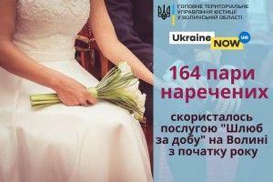 На Волині за добу одружилися 164 пари наречених