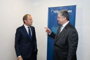 Порошенко – Туску: «Санкції ЄС проти Росії мають залишатись до повного виконання Мінських угод»