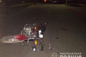 У Рокитному неповнолітній на «євроблясі» збив мотоцикліста (фото)