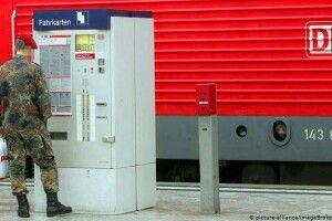 Німецька залізниця запроваджує безкоштовний проїзд для солдатів