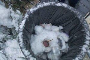 «І сніг у поміч!»: кмітливі рятувальники не дали жодного шансу червоному півню зірвати Об'єднавчий Собор (фото)