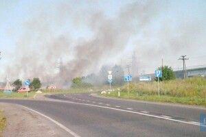 На околиці волинського міста сталася масштабна пожежа (Фото, відео)