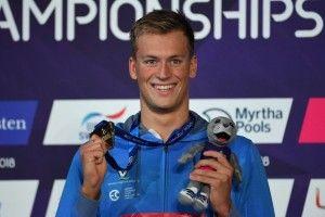 Рівненський плавець Михайло Романчук привіз із Чемпіонату Європи 2 золоті та 1 срібну медалі