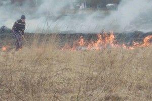 На Волині рятувальники виявили чоловіка, який спалював суху траву