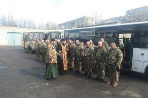 Під благословення священиків бійців батальйону «Світязь» провели на Схід (Фото)