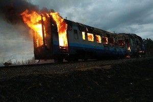 Згорів поїзд «Сарни–Здолбунів»