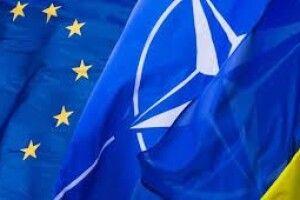 Більшість українців виступають за вступ до ЄС та НАТО