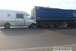 На Рівненщині зіткнулися маршрутка, мікроавтобус та вантажівка
