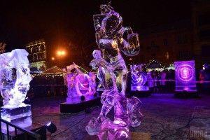 У Львові змагалися творці льодових скульптур