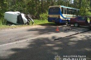 На Костопільщині зіткнулися три автомобілі
