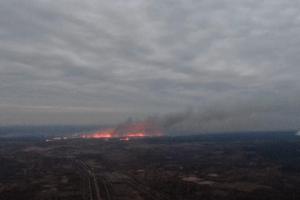 На Рівненщині серед ночі горіло 50 гектарів поля (Відео)