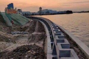 У Китаї надрукували стіну для захисту від повеней