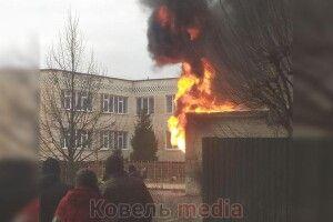 У місті на Волині загорілася підстанція (Відео)
