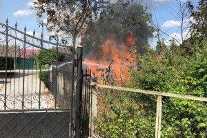 У місті на Волині біля стадіону сталася пожежа (Фото)