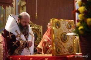 Митрополит Луцький і Волинський Михаїл служив у Михайлівському Золотоверхому соборі Києва