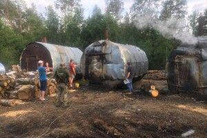 На Рівненщині ліквідовано підпільні цехи з виробництва деревного вугілля (Фото)