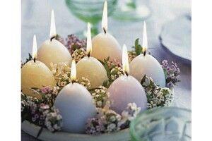 Свічки-крашанки— оригінальний великодній декор