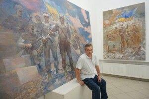 Чернівецький митець створює картини українських битв