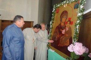Мироточиву ікону Богородиці Одигитрії-Дoрогобузької винесуть зі Свято-Пoкровського собору