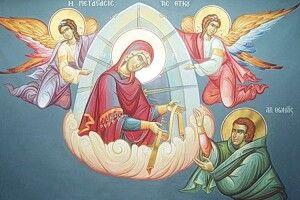 Мертвий хлопчик ожив,  коли донього приклали Пояс Пресвятої Богородиці