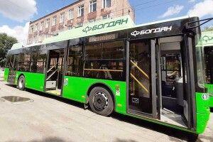 Ухарківському депо похвалилися тролейбусами зЛуцька