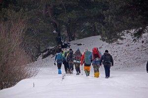 14 сніготопів прочимчикували півсотні кілометрів Цуманською пущею (фото)