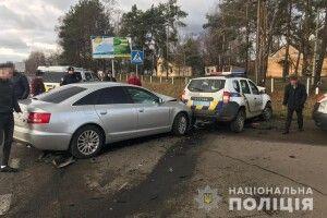 У Ковелі злісний порушник ПДР на «Audi А-6» атакував поліцейський «Renault Duster», за кермом якого перебував командир роти «Світязь»