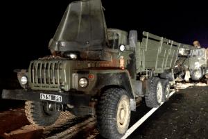 На Херсонщині військовий КамАЗ зіткнувся з військовим «Уралом»