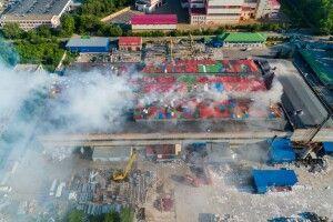 У Дніпрі загорівся завод з виробництва туалетного паперу