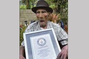 Книга рекордів Гіннесса назвала найстарішого чоловіка на планеті