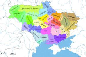 Україну поділили на 32 землі