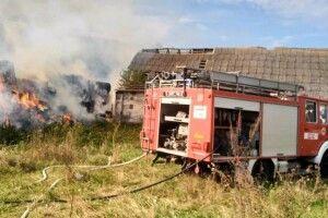 На Волині сталася пожежа на підприємстві