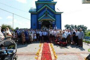 На Горохівщині священника з 30-річчям служіння в парафії привітав митрополит Михаїл