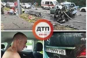 Під Києвом п'яний чоловік вбив на чужому авто чотирьох людей (Фото, відео)
