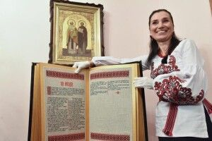 Вишивальниця найбільшої книги вУкраїні Олена Медведєва: «Ягаптую трьома мовами. Російською нероблю цього принципово!»