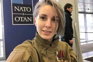 Яна Зінкевич в NATO прочитала доповідь про суїцид