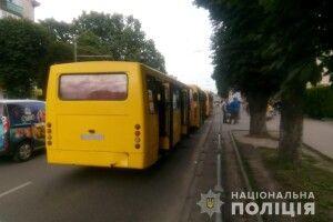 У Луцьку зіштовхнулися три маршрутки, є постраждалі